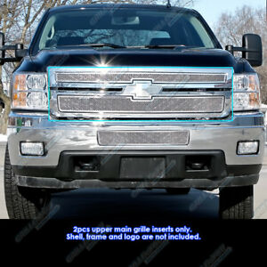 For 2011 2014 Chevy Silverado 2500hd 3500hd Stainless Steel Mesh Grille Insert