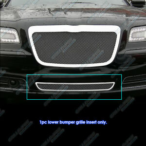 Fits 2011 2014 Chrysler 300 300c Bumper Stainless Steel Mesh Grille Grill