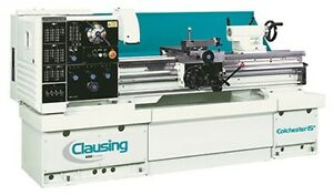 New Clausing Colchester 8043 15 X 50 Gap Bed Lathe