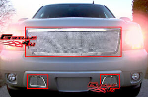 Fits 2007 2013 Chevy Tahoe Suburban Avalanche Mesh Grille Insert Combo