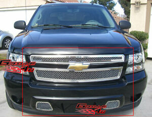 Fits 2007 2014 Chevy Tahoe Suburban Avalanche Mesh Grille Insert Combo