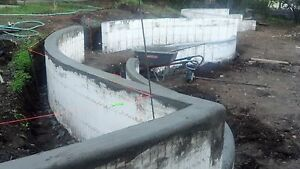Landscaping walls Icf s Insulated Concrete Forms For Landscaping