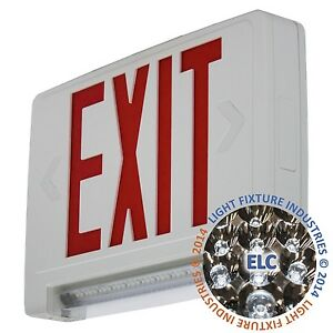Red All Led Exit Sign Emergency Light Pipe Combo Ul Self Testing Combolprst
