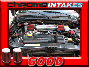 Black Red Dual 99 00 01 04 Jeep Grand Cherokee Laredo 4 7l V8 Ho Air Intake Kit