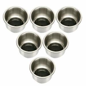 6pcs Stainless Steel Cup Drink Holder Marine Boat Rv Camper Marine Grade Durable
