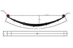 Pro Comp 23311 Leaf Spring Rear 6 99 07 Ford F250 F350 Made In Usa 1 Piece