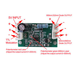 Professional Laser Diode Driver For 808nm 532nm 660nm With Ttl