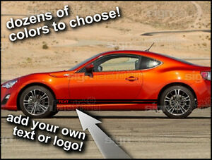 2013 And Up Scion Frs Custom Side Rocker Stripes Racing Graphics Decals 002