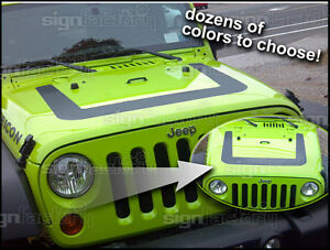 008 2009 2010 2011 2012 2013 Jeep Wrangler Decal Graphic Arctic Style Hood 2
