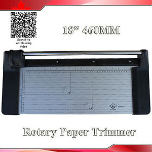Portable New 18 460mm Manual Rotary Paper Cutter Portable Trimmer 1 Extra Blade