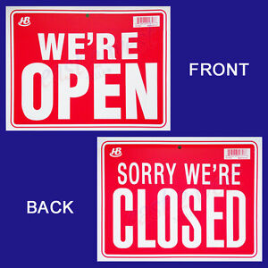 1 Sign In Front We re Open In Back Sorry We re Closed Flexible Plastic 9 x12