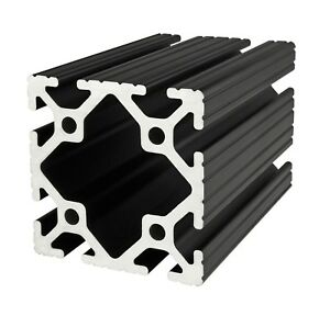 80 20 Inc T Slot 3 X 3 Aluminum Extrusion 15 Series 3030 black X 18 N