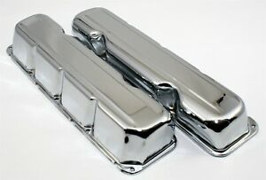 1968 1979 Amc Jeep V8 Chrome Short Style Steel Valve Covers 304 360 390 401