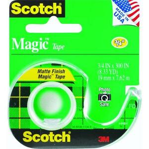 144 Pk 3m Scotch Magic Transparent Tape 3 4 X 300 W dispenser 105