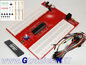 Picprotoboard 16f Solderless Prototyping Breadboard For Microchip Pic