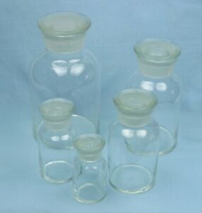 Reagent Jars Apothecary Bottles Jar Bottle 5 Sizes