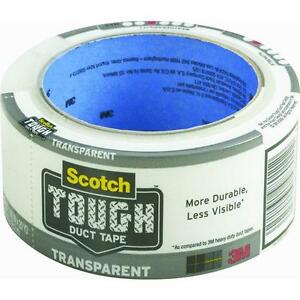 12 Pk 3m 1 88 X 20 Yd Scotch Transparent Duct Tape 2120 a
