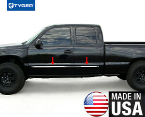 Tyger Fit 99 06 Chevy Silverado 4dr Extended Cab Body Side Molding Trim 1 5 4pc