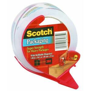 6 Pk 3m 1 88 X 38 2 Yd Scotch Packaging Tape W refillable Dispenser 3850s rd