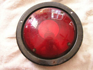 Vintage Grotelite Lens Stop Lamp Brake Tail Lite 256 And Housing