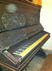 Piano Gorgeous Antique Hallet Davis Piano Upright Piano Needs Restoration