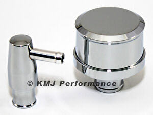 Chrome Aluminum Pcv Valve And Smooth Top Valve Cover Breather Push In