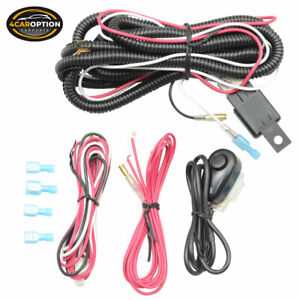 Universal Led Fog Lamp 12v Wiring Harness Wire Switch Relay Kit Lights Bar