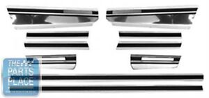 1970 72 Chevrolet Monte Carlo Lower Body Side Molding Trim Set 10 Pc