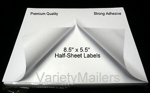 600 Half Sheet Postal Ebay Paypal Shipping Postage Labels Strong Adhesive