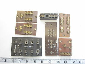 Assorted Terminal Board Block Lot Of 7 Used