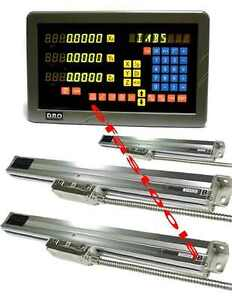 9x42 Bridgeport Dro 3 Axis Mill Package Linear Scales Free Shipping