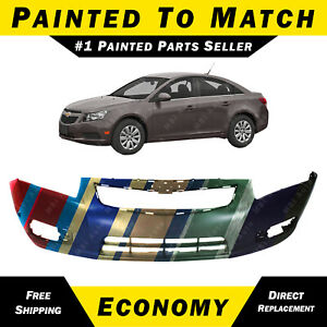 New Painted To Match Front Bumper Cover Replacement For 2011 2014 Chevy Cruze
