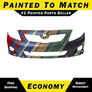 Painted To Match Front Bumper Cover For 2009 2010 Toyota Corolla Sedan S Xrs