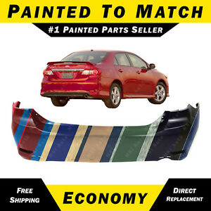 New Painted To Match Rear Bumper Cover For 2011 2013 Toyota Corolla Sedan S Xrs
