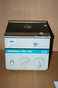 Sorvall Dupont Mc 12v Bench Top Centrifuge 12 000 Rpm Variable Runs Great