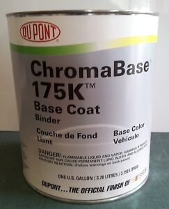Auto Body Shop Paint Dupont 175k Chromabase Base Coat Binder Restoration Vehicle