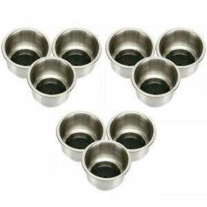 set Of 9 Stainless Steel Cup Drink Holder Marine Boat Rv Camper Drink Holders