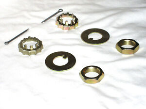 Mustang Ii Stock Spindle Nut Kit Street Hot Rat Rod Washers 13 16 20 Nuts