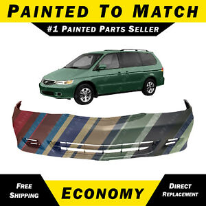 New Painted To Match Front Bumper Cover Replacement For 1999 2004 Honda Odyssey