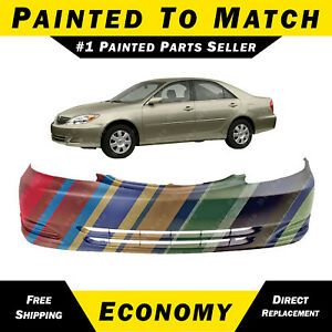 New Painted To Match Front Bumper Cover For 2002 2003 2004 Toyota Camry Sedan