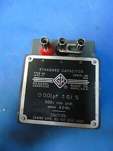 General Radio Genrad Type 1409 f Standard Capacitor