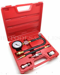 Automotive Compression Tester 2 Adapters 2 1 2 Diameter Gauge Gas Engine Tester