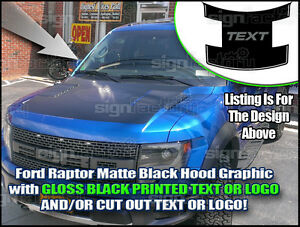 Hood Blackout Graphics Pin Stripe Decal fits 2010 2014 Ford Raptor F 150