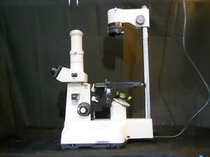 Olympus Im Inverted Phase Contrast Microscope W Objectives