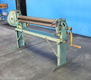 16 Gauge X 50 Pexto Manuel Hand Sheet Metal Roll Bender Hvac Fabricating Roll