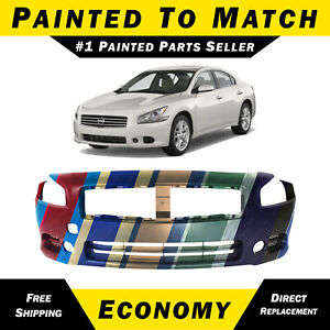 New Painted To Match Front Bumper Cover Replacement For 2009 2014 Nissan Maxima