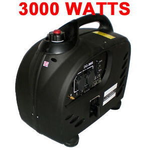 Purewave Digital Dg 3000 Watt Gas Generator Inverter Quiet Portable