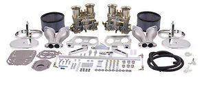 Empi Vw Dual 40 Hpmx Type 1 Carb Kits With Chrrome Air Cleaners 47 7317