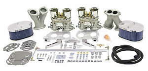 Empi Vw Deluxe Dual 44 Hpmx Type 1 Carb Kits With Billet Air Cleaners 47 9319