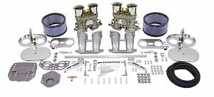 Empi Dual 44 Hpmx Type 2bus Type 4 Carb Kits With Chrome Air Cleaners 47 7295